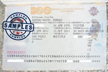 Dịch vụ làm Visa du lịch Đài Loan